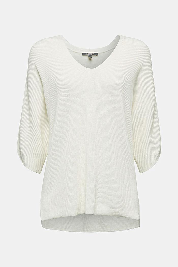 With TENCEL™: raglan jumper, OFF WHITE, detail image number 6