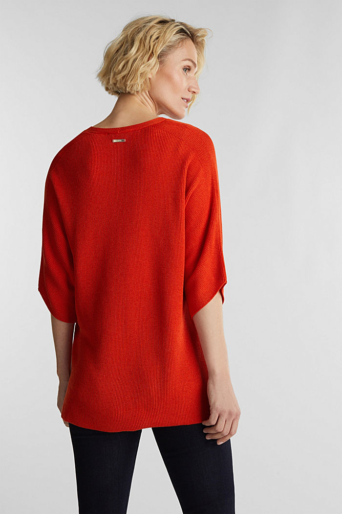 With TENCEL™: raglan jumper, RUST ORANGE, detail image number 3