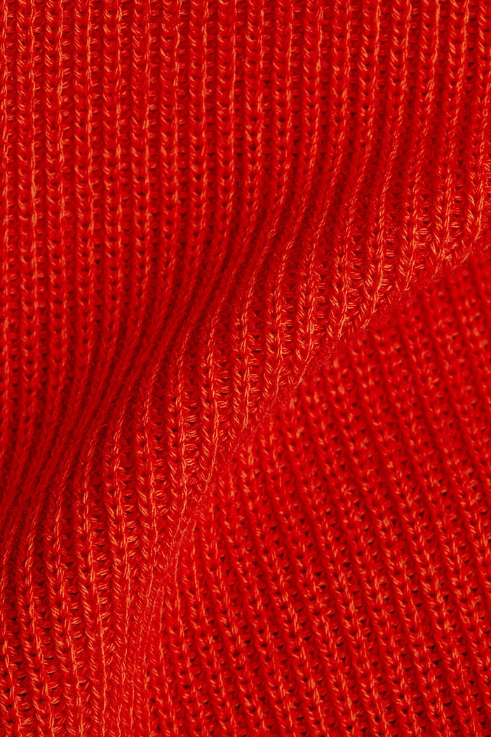 With TENCEL™: raglan jumper, RUST ORANGE, detail image number 4
