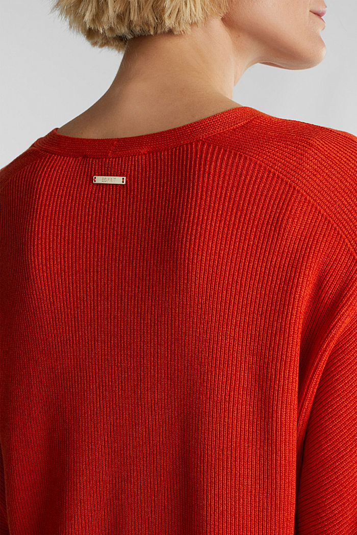 With TENCEL™: raglan jumper, RUST ORANGE, detail image number 5