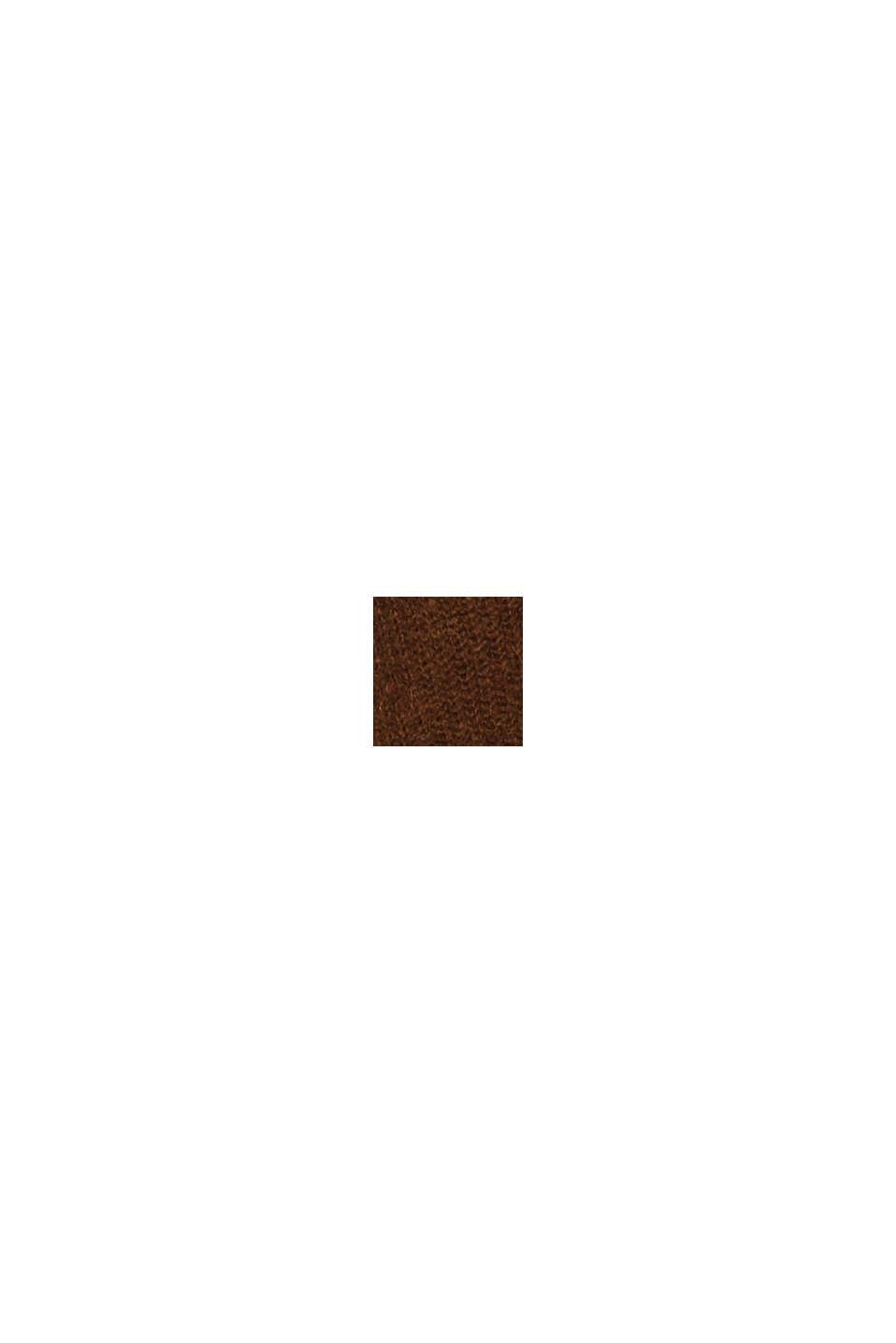 Ullmix med alpacka: ribbad kofta, TOFFEE, swatch