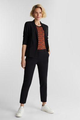 Short-sleeved jumper in a jacquard look, RUST ORANGE 3, detail