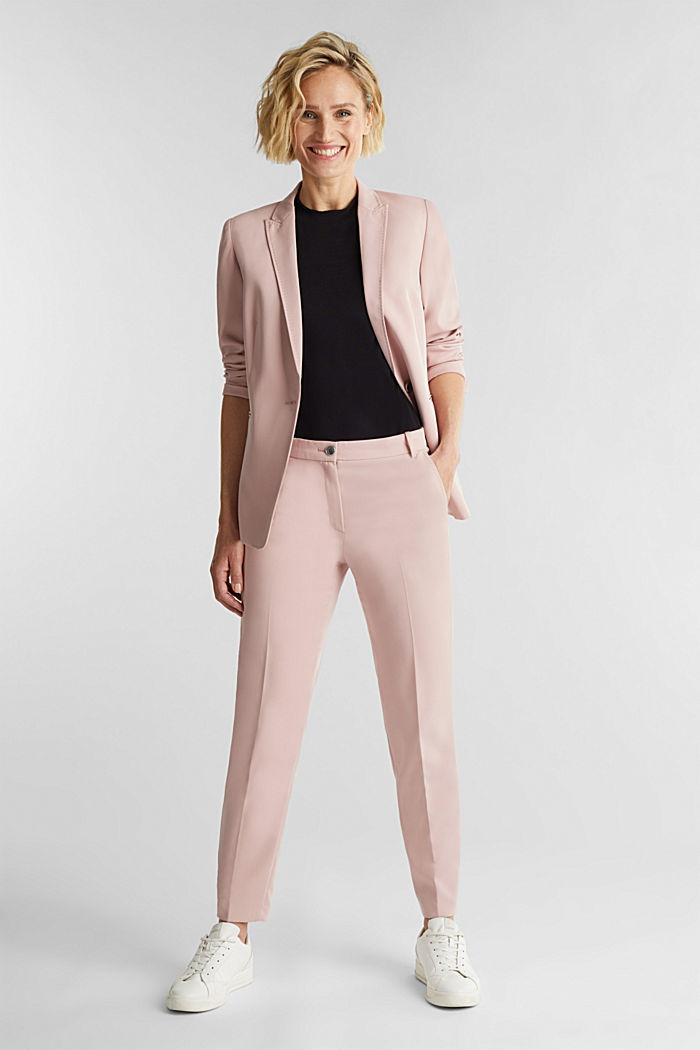Short sleeve jumper made of LENZING™ ECOVERO™, BLACK, detail image number 1