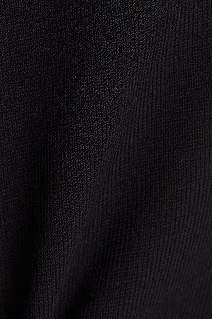 Short sleeve jumper made of LENZING™ ECOVERO™, BLACK, detail image number 4