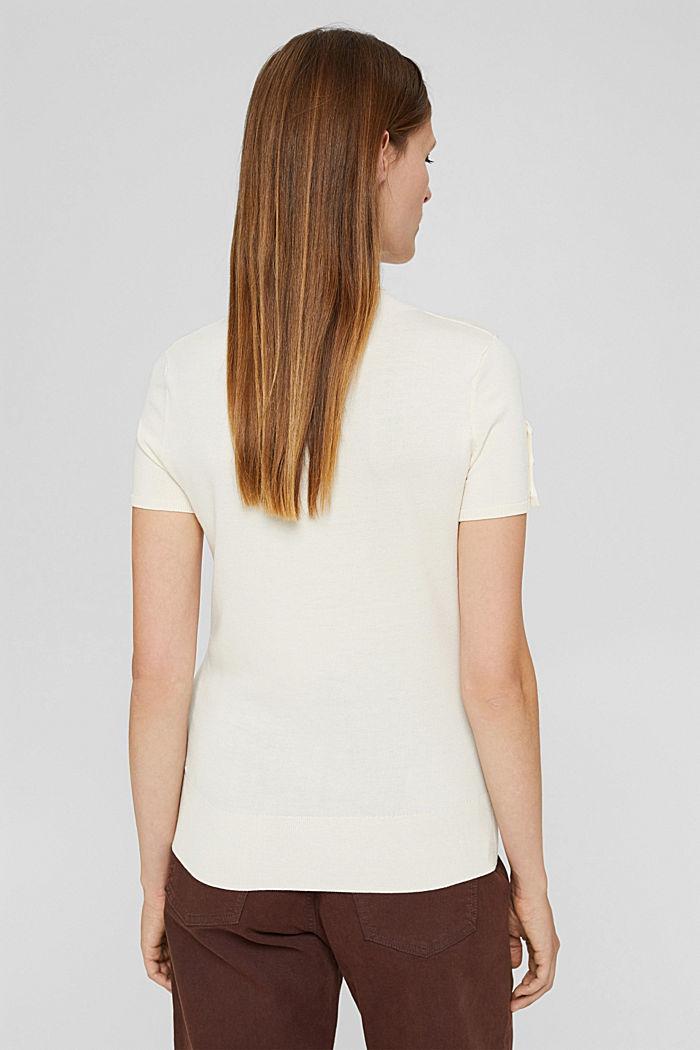 Pulovr s krátkým rukávem, z recyklovaného polyesteru se strečem pro pohodlí, ICE, detail image number 2