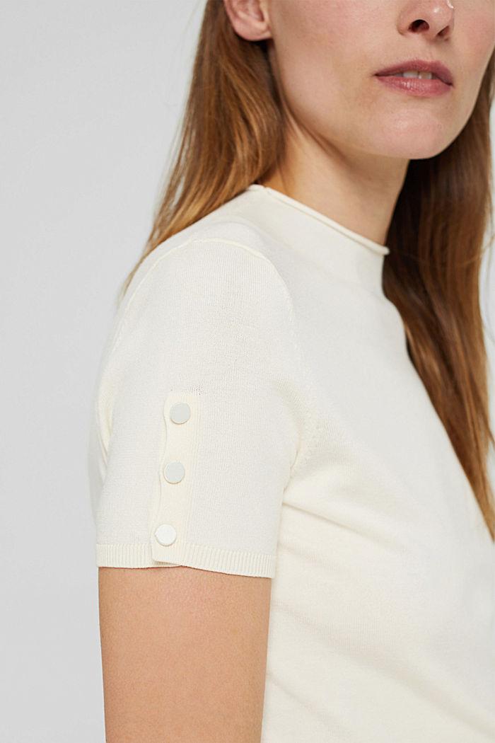 Pulovr s krátkým rukávem, z recyklovaného polyesteru se strečem pro pohodlí, ICE, detail image number 1