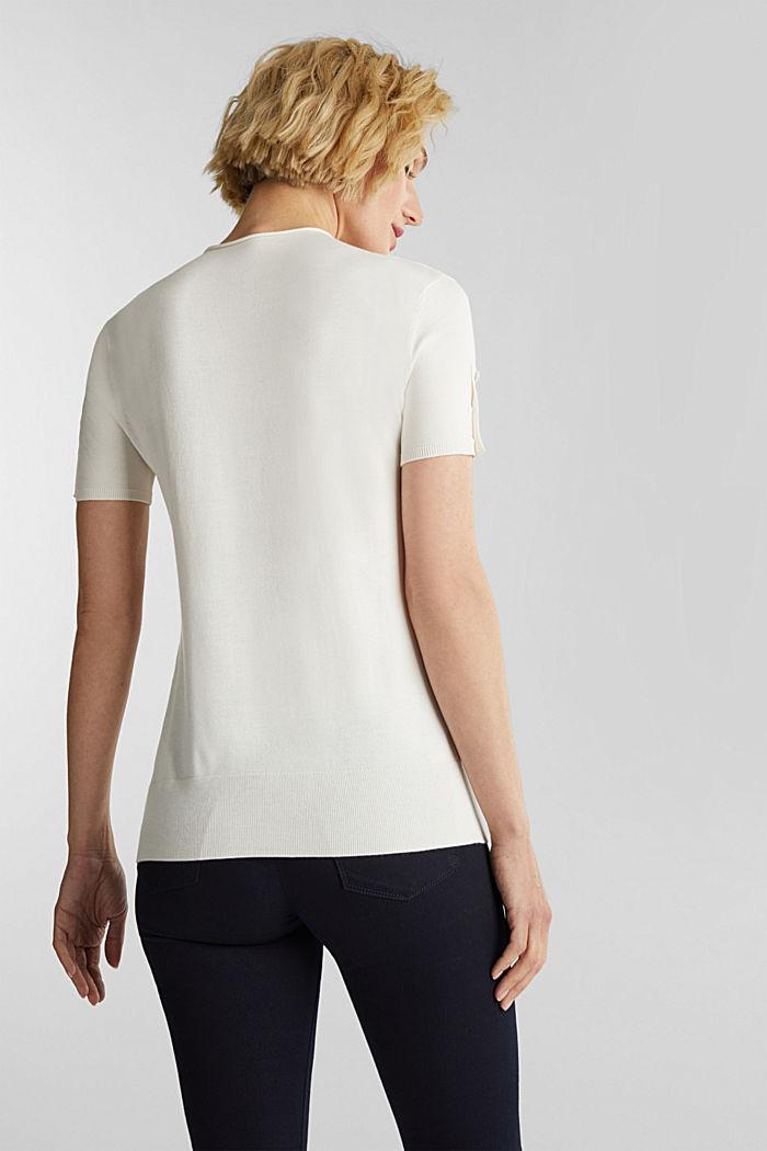 Short sleeve jumper made of LENZING™ ECOVERO™, OFF WHITE, detail image number 3
