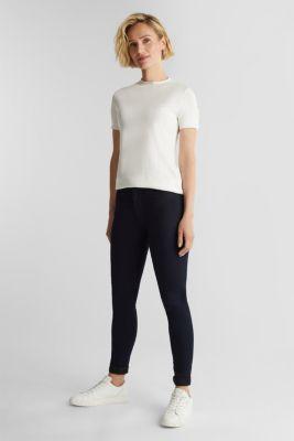 Short sleeve jumper made of LENZING™ ECOVERO™, OFF WHITE, detail