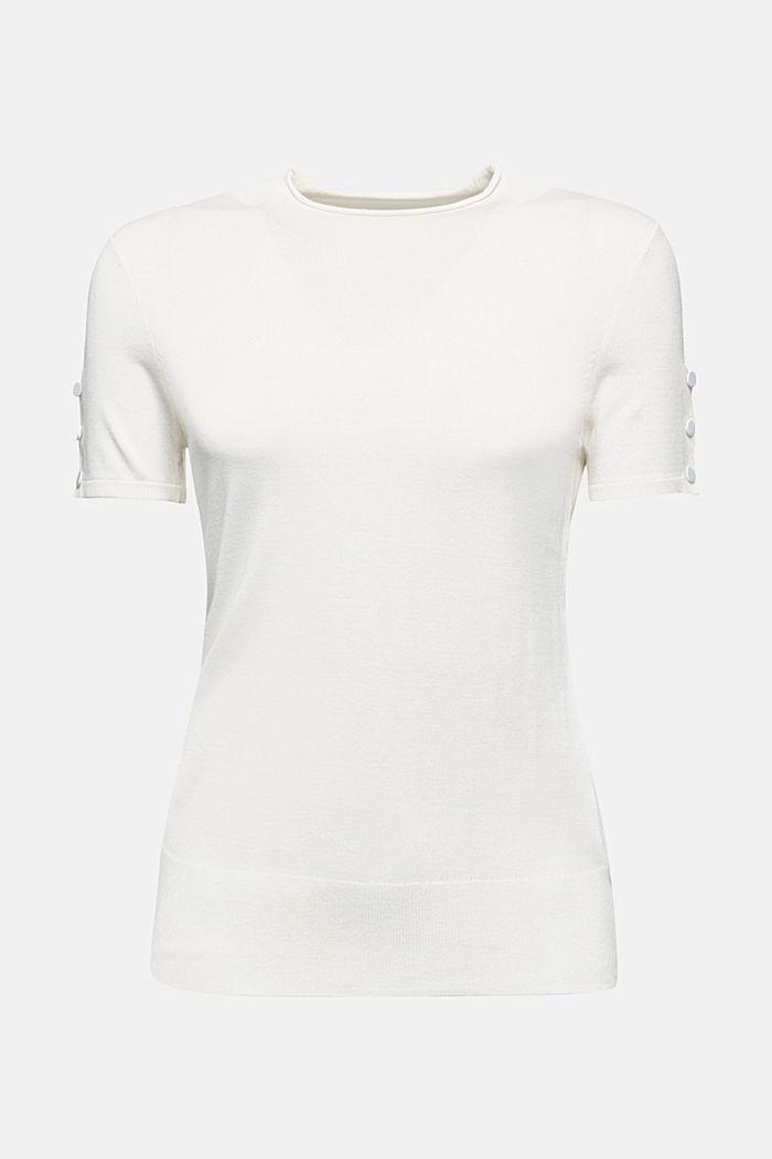 Short sleeve jumper made of LENZING™ ECOVERO™, OFF WHITE, detail image number 6