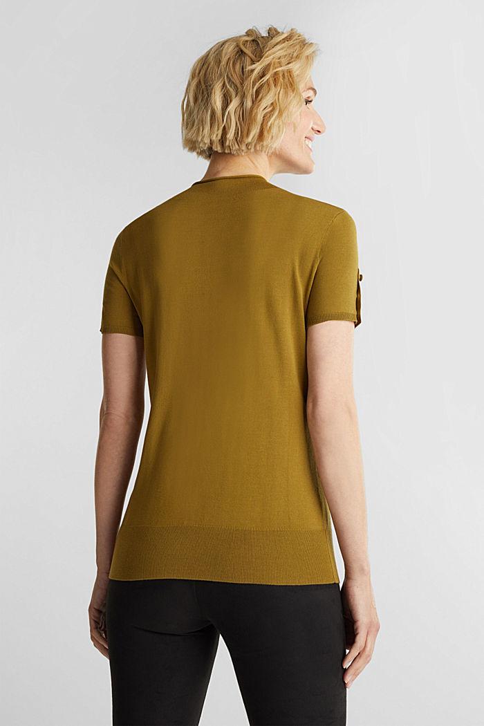 Short sleeve jumper made of LENZING™ ECOVERO™, OLIVE, detail image number 3