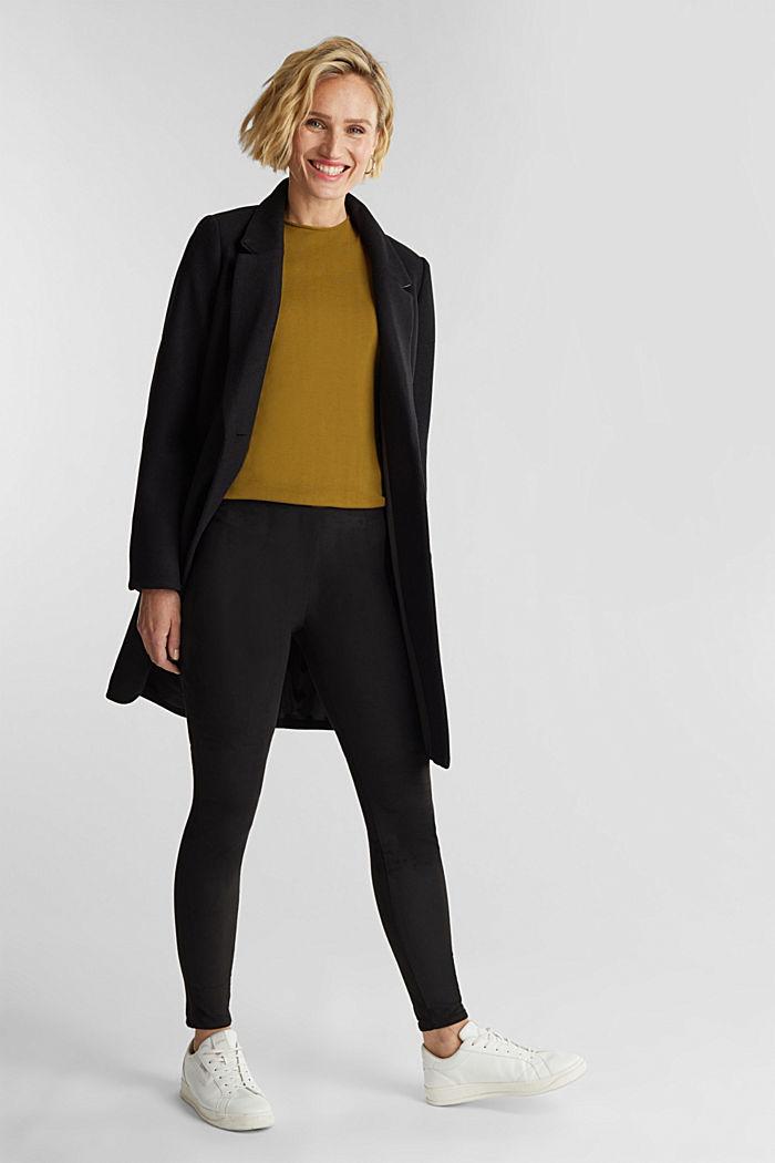 Short sleeve jumper made of LENZING™ ECOVERO™, OLIVE, detail image number 1