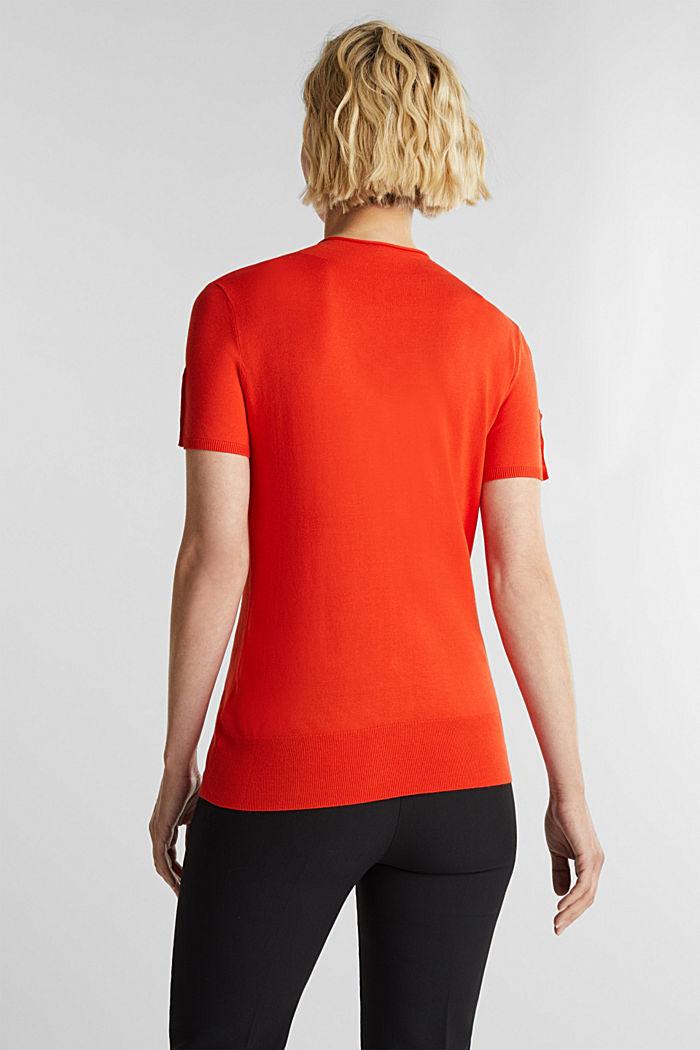 Short sleeve jumper made of LENZING™ ECOVERO™, RUST ORANGE, detail image number 3