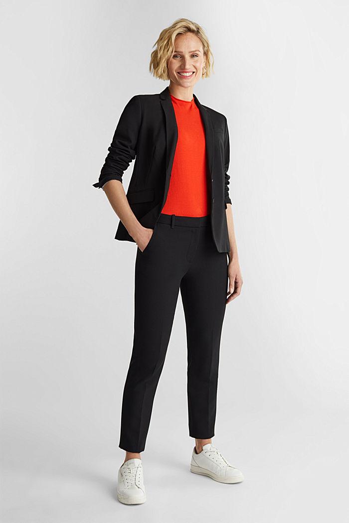 Short sleeve jumper made of LENZING™ ECOVERO™, RUST ORANGE, detail image number 1
