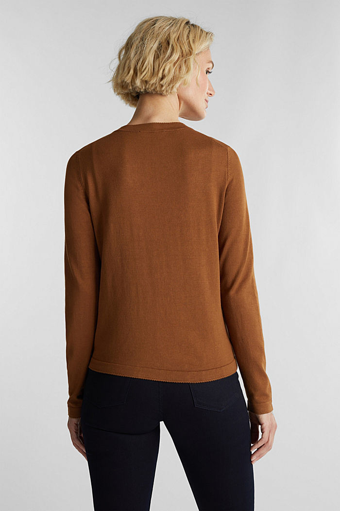 LENZING™ ECOVERO™ fine knit cardigan, TOFFEE, detail image number 3