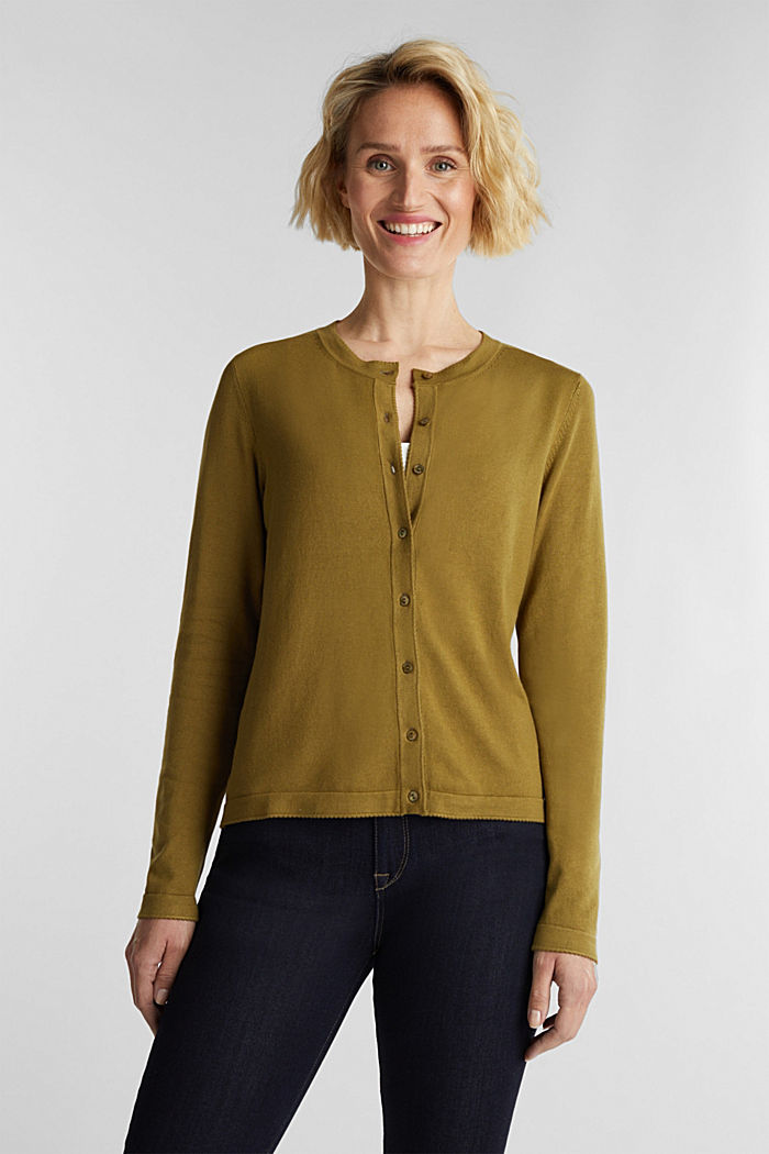 LENZING™ ECOVERO™ fine knit cardigan