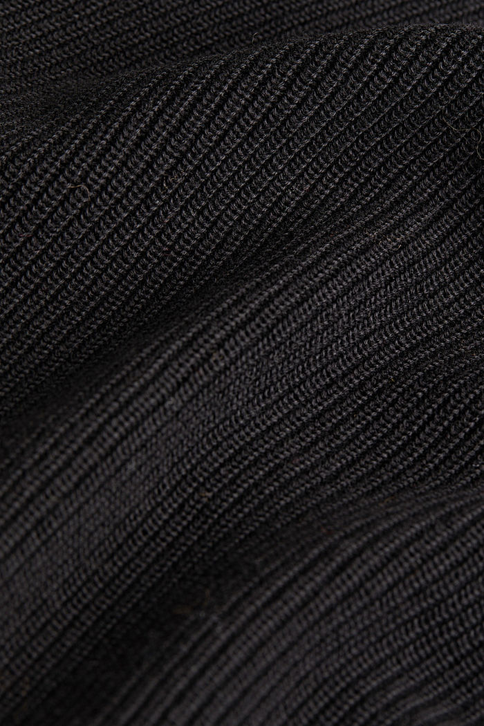 Blended lyocell: TENCEL™: Ribbed jumper, BLACK, detail image number 4