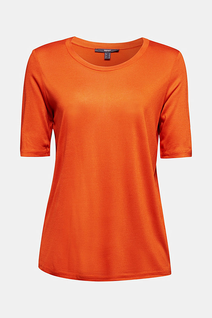 T-shirt made of LENZING™ ECOVERO™, RUST ORANGE, detail image number 5