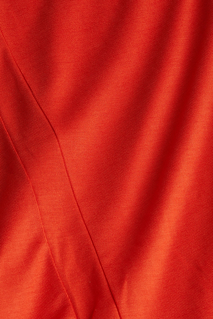 Jersey top with TENCEL™ Lyocell, RUST ORANGE, detail image number 4