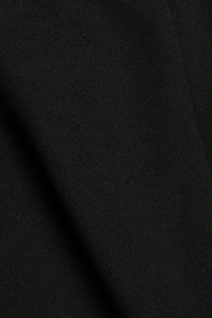 Top made of punto jersey, LENZING™ ECOVERO, BLACK, detail image number 4