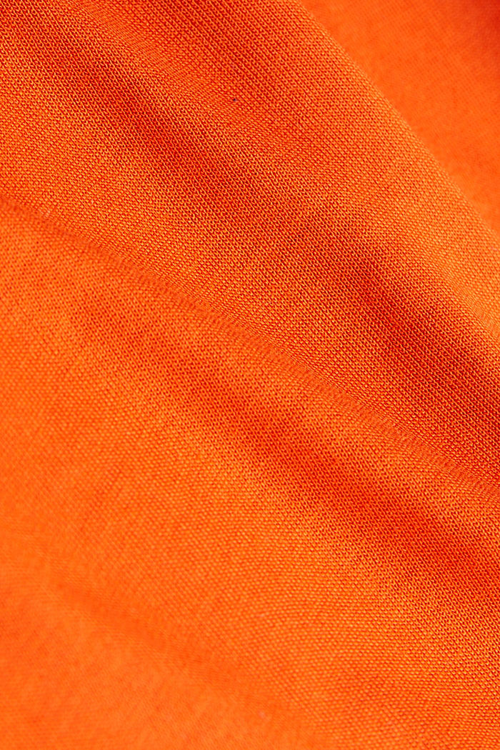 Balloon T-shirt made of LENZING™ ECOVERO™, RUST ORANGE, detail image number 4