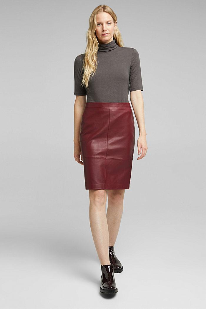 Wool blend: Polo neck shirt, LENZING™ ECOVERO™, GUNMETAL, detail image number 1