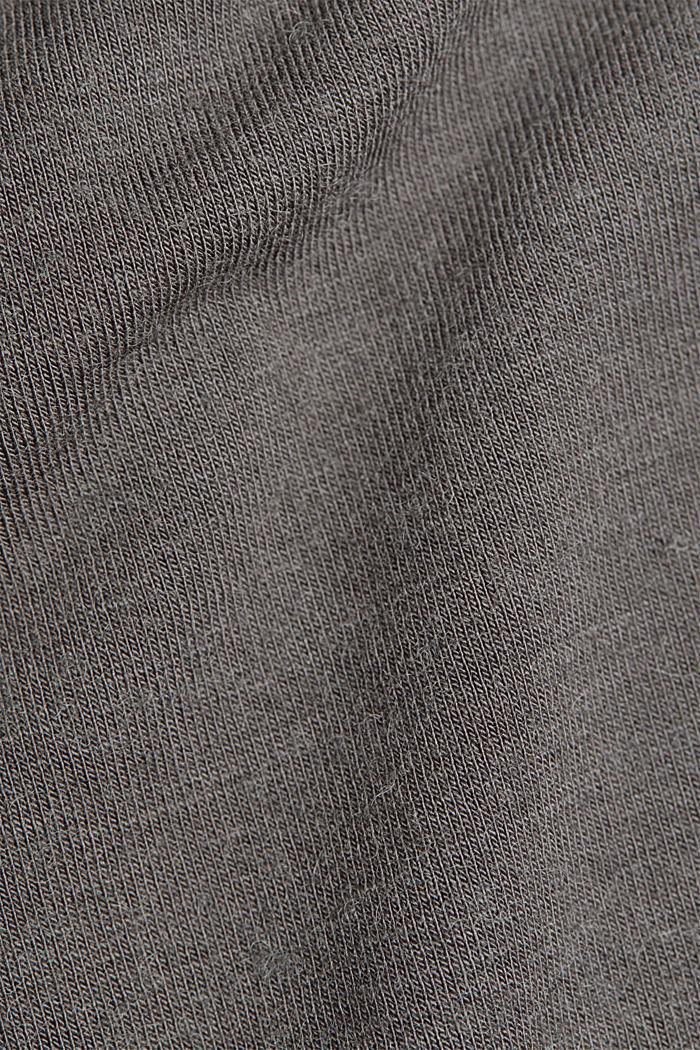 Wool blend: Polo neck shirt, LENZING™ ECOVERO™, GUNMETAL, detail image number 4