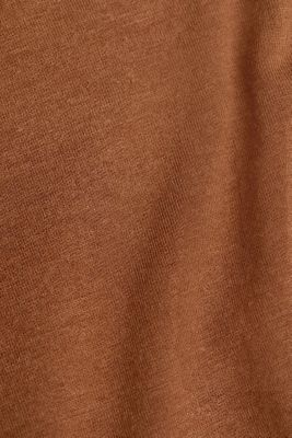 Wool blend: Polo neck shirt, LENZING™ ECOVERO™, TOFFEE, detail