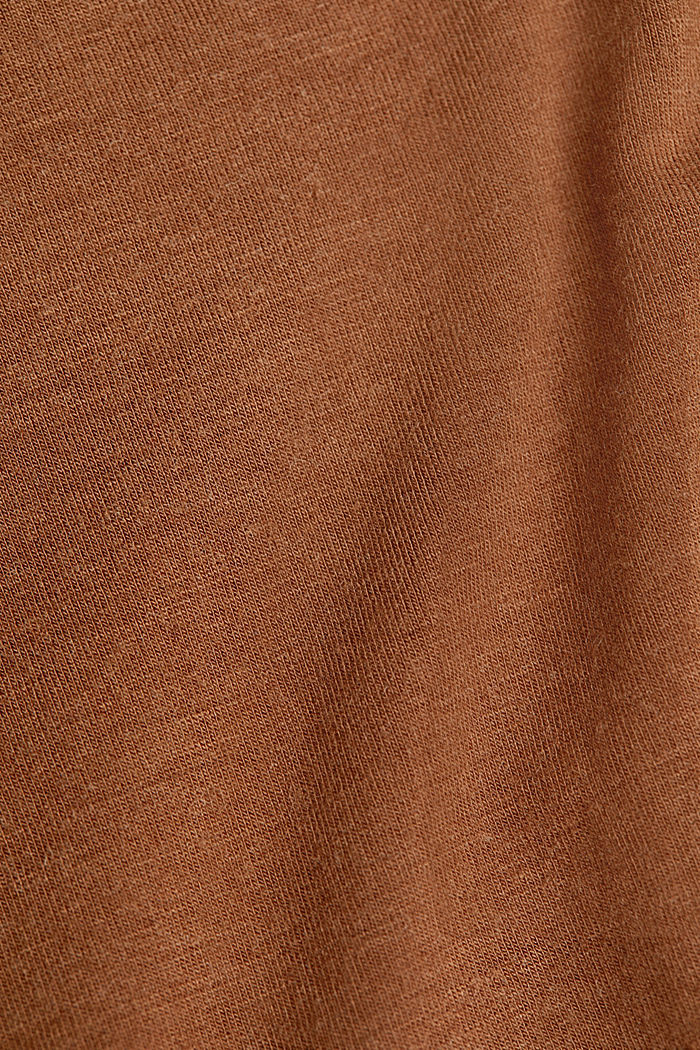 Wool blend: Polo neck shirt, LENZING™ ECOVERO™, TOFFEE, detail image number 4