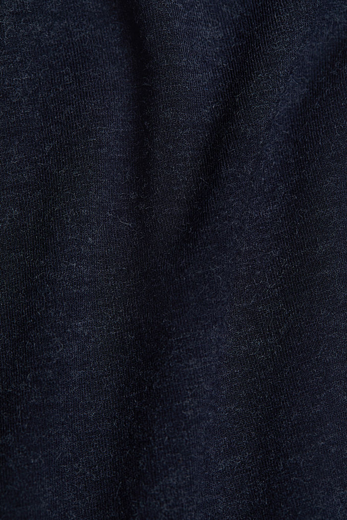 Wool blend: Polo neck shirt, LENZING™ ECOVERO™, NAVY, detail image number 4