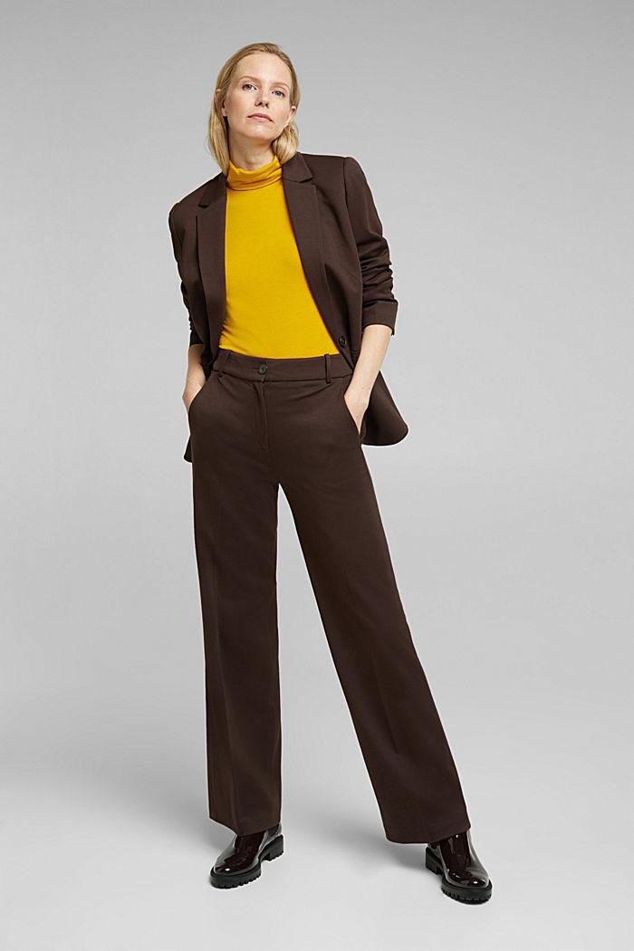 Wool blend: Polo neck shirt, LENZING™ ECOVERO™, HONEY YELLOW, detail image number 1
