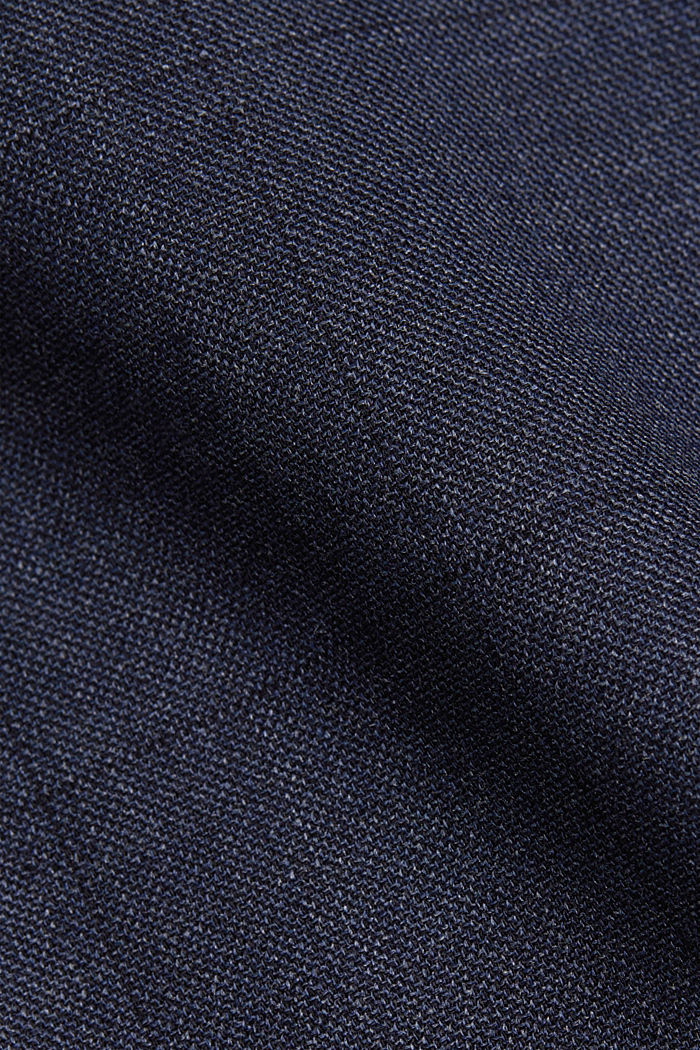 Suit trousers made of blended wool, DARK BLUE, detail image number 4