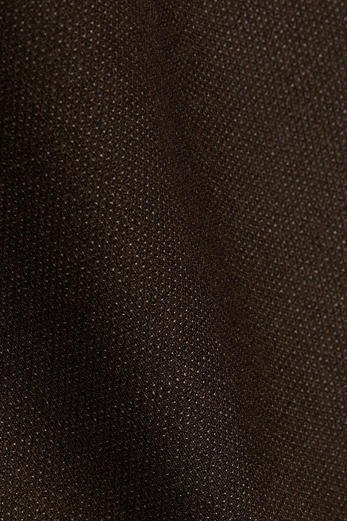 ACTIVE SUIT Hose aus Woll-Mix, DARK BROWN, detail image number 5