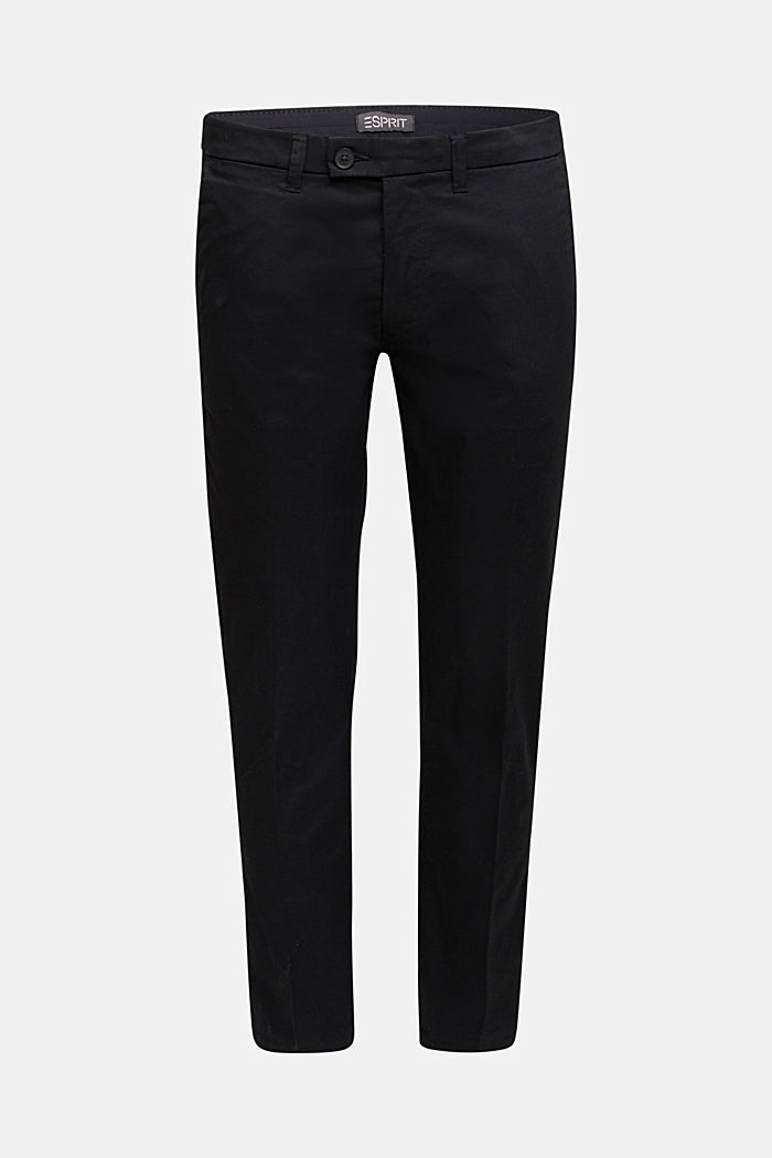 Stretch chinos with organic cotton, BLACK, detail image number 5