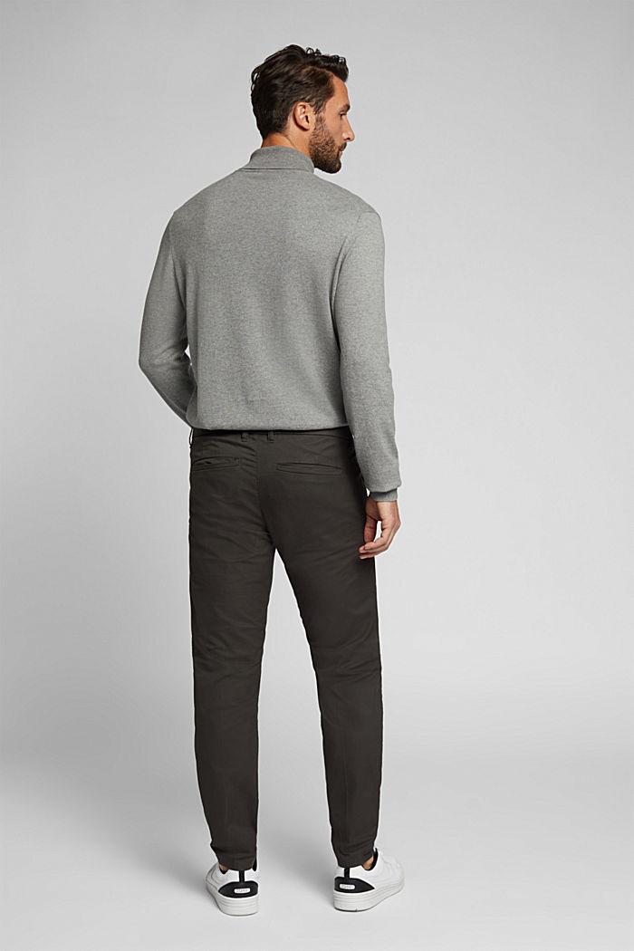 Stretch-Chino mit Organic Cotton, DARK GREY, detail image number 3