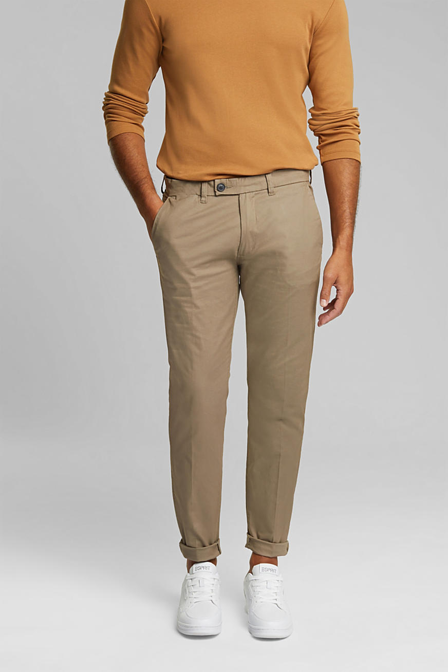 Stretch chinos with organic cotton