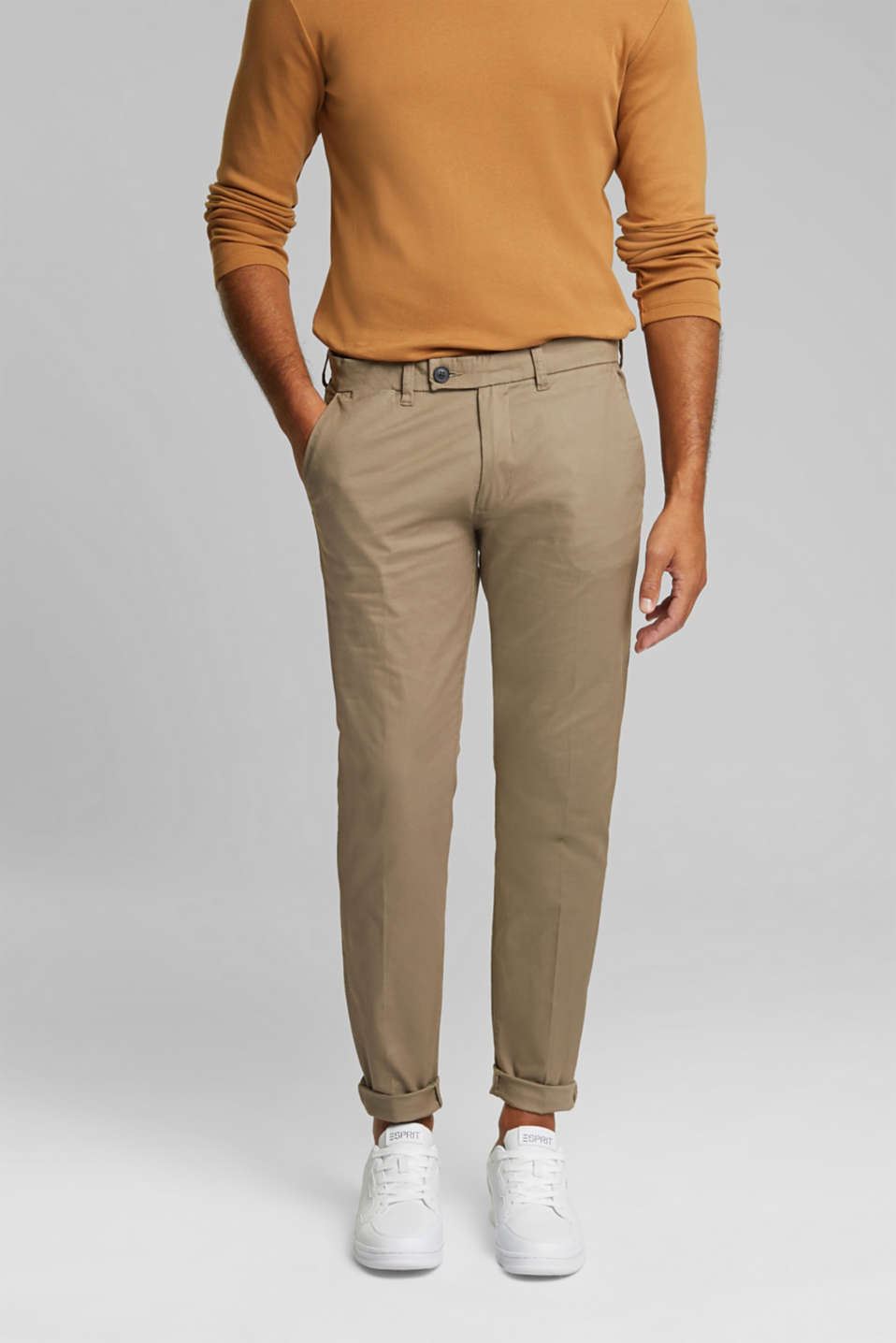 Esprit - Chino met stretch en organic cotton