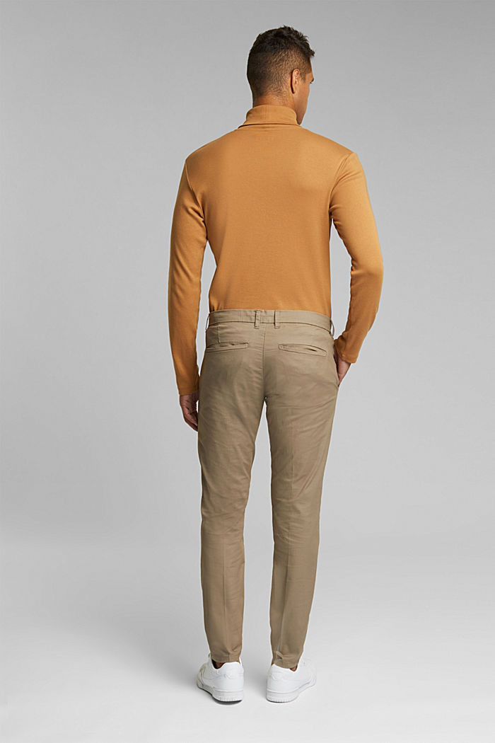 Stretch-Chino mit Organic Cotton, BEIGE, detail image number 3
