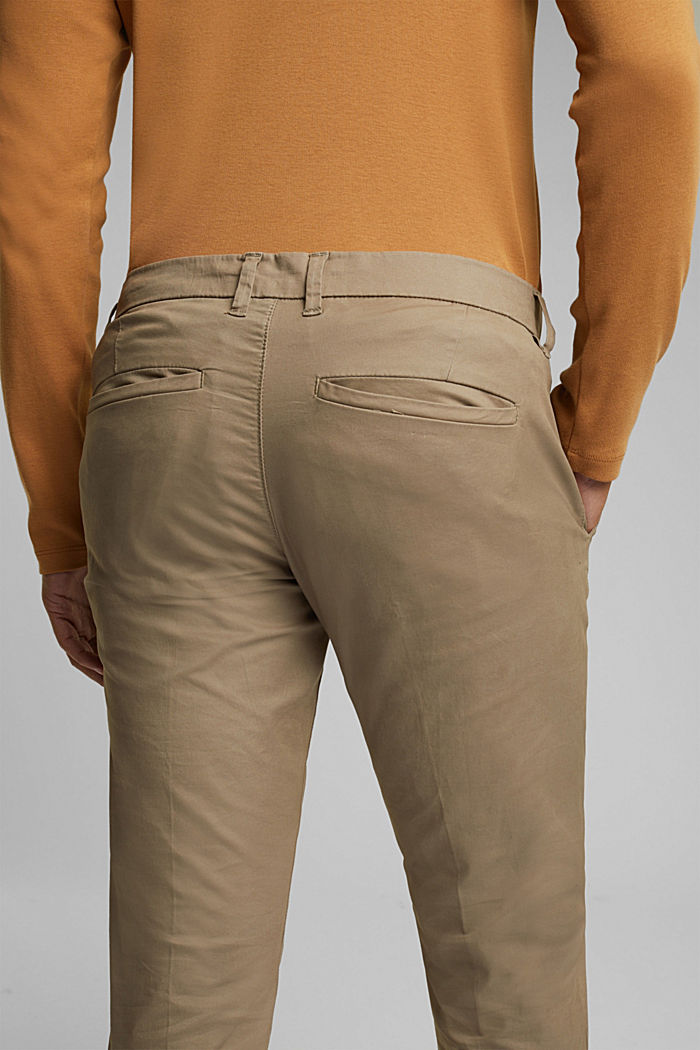 Stretch-Chino mit Organic Cotton, BEIGE, detail image number 2