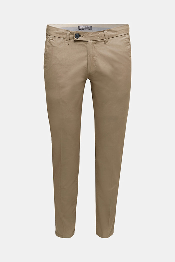 Stretch-Chino mit Organic Cotton, BEIGE, overview
