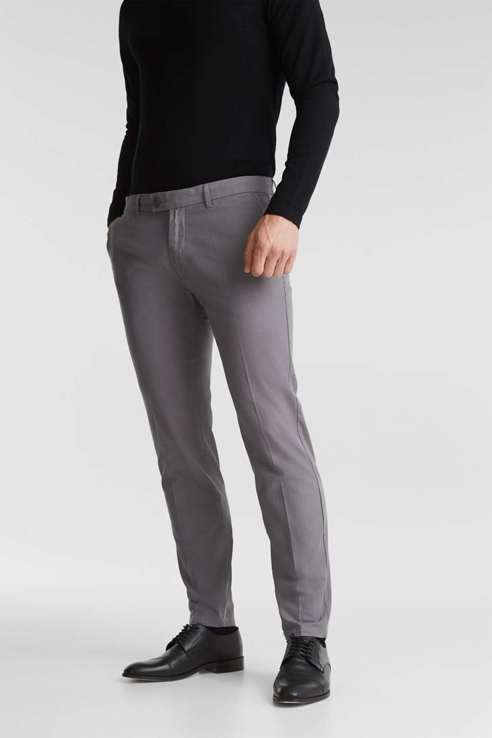 Esprit - Stretch trousers in organic cotton