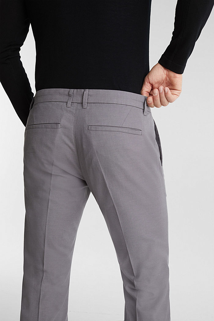 Stretch trousers in organic cotton, GREY, detail image number 2