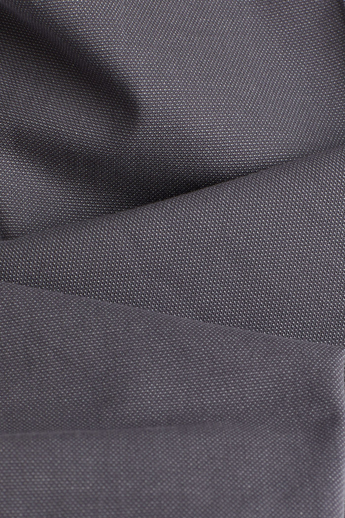 Stretch trousers in organic cotton, GREY, detail image number 4