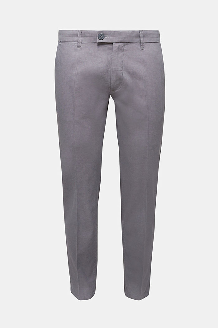 Stretch trousers in organic cotton