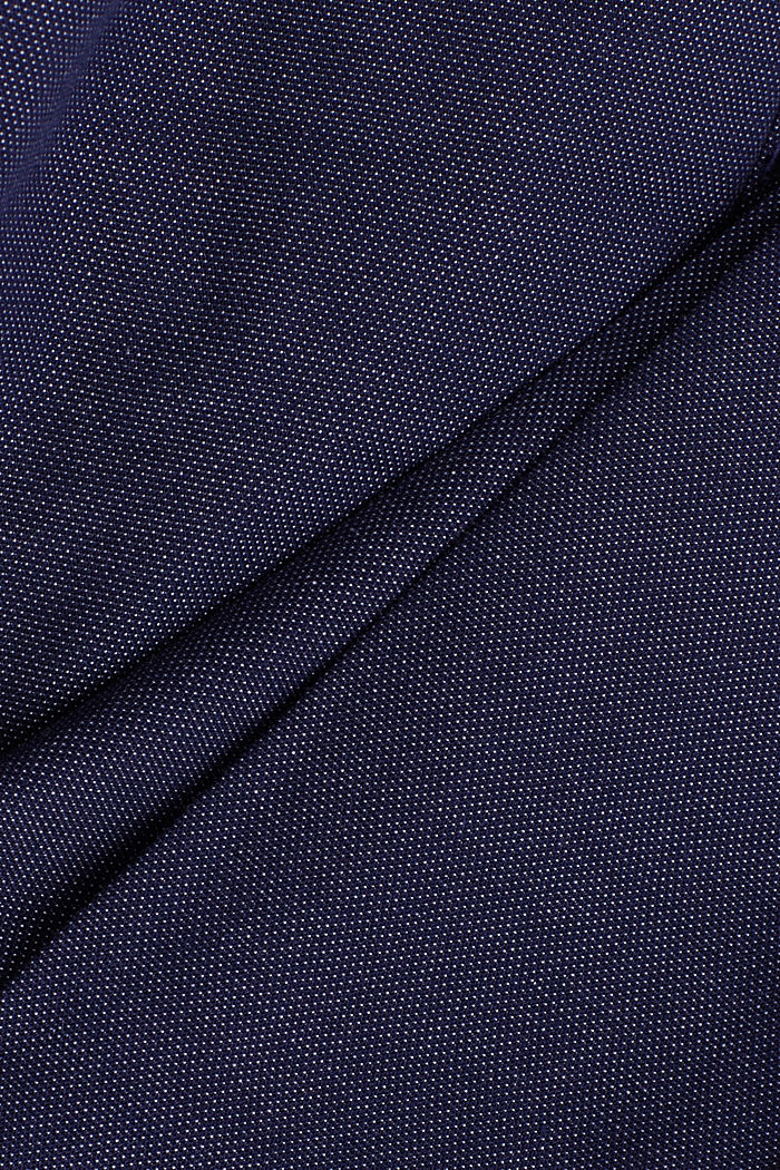 Stretch trousers in organic cotton, DARK BLUE, detail image number 4