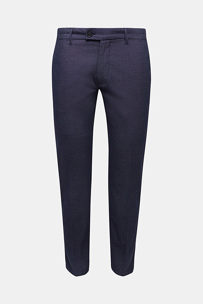 Stretch trousers in organic cotton, DARK BLUE, detail image number 6