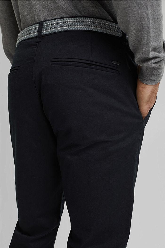 Chinos made of organic cotton, BLACK, detail image number 2