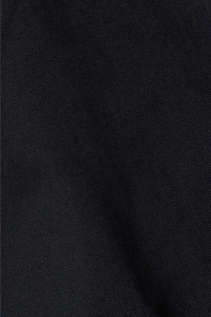 Chinos made of organic cotton, BLACK, detail image number 4
