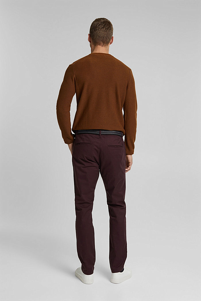 Chino aus Organic Cotton, BORDEAUX RED, detail image number 3
