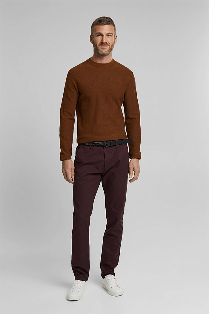 Chino aus Organic Cotton, BORDEAUX RED, detail image number 1