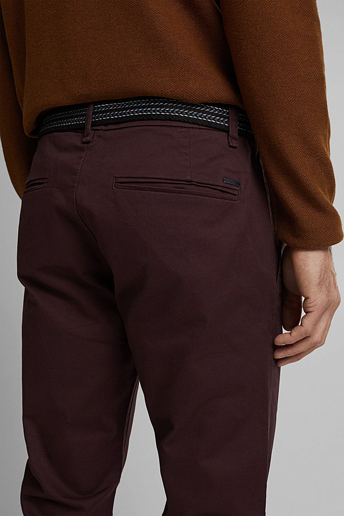 Chino aus Organic Cotton, BORDEAUX RED, detail image number 2